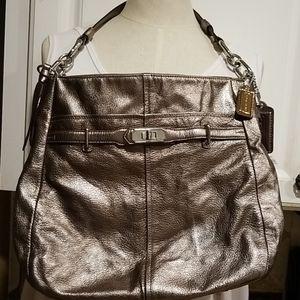 Authentic Coach Gold/Bronze Metallic Bag